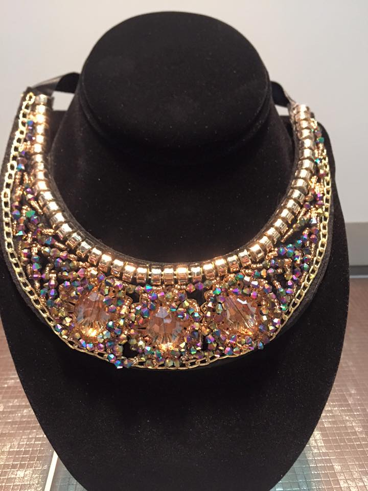 Shiny Black Statement Collar Necklace