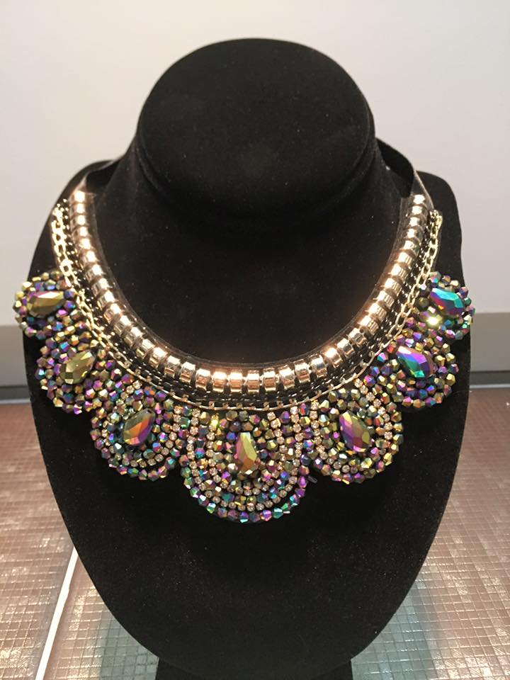 Beaded Colorful Collar Necklace