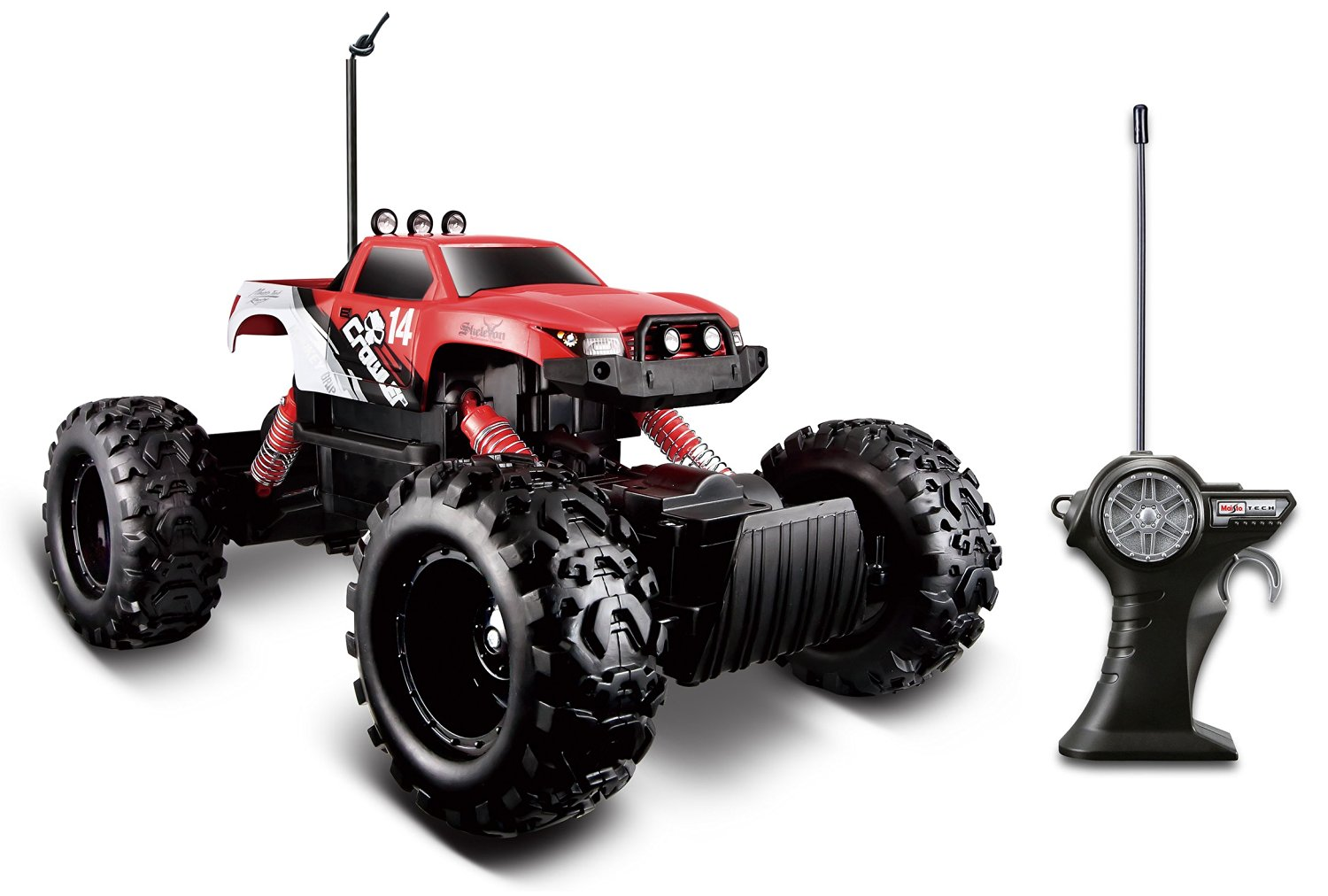 Maisto R/C Rock Crawler Radio Control Vehicle (Red)