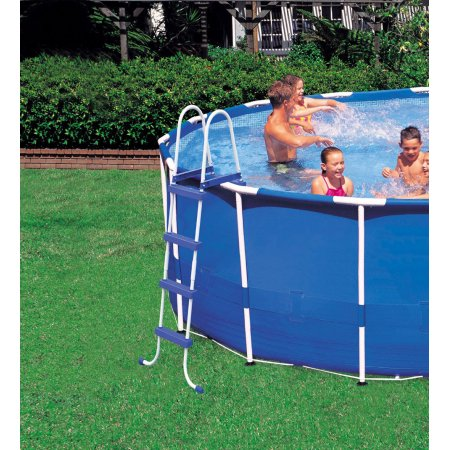 "Intex 18\' x 48"" Metal Frame Swimming Pool Set with 1500 GFCI Pump"