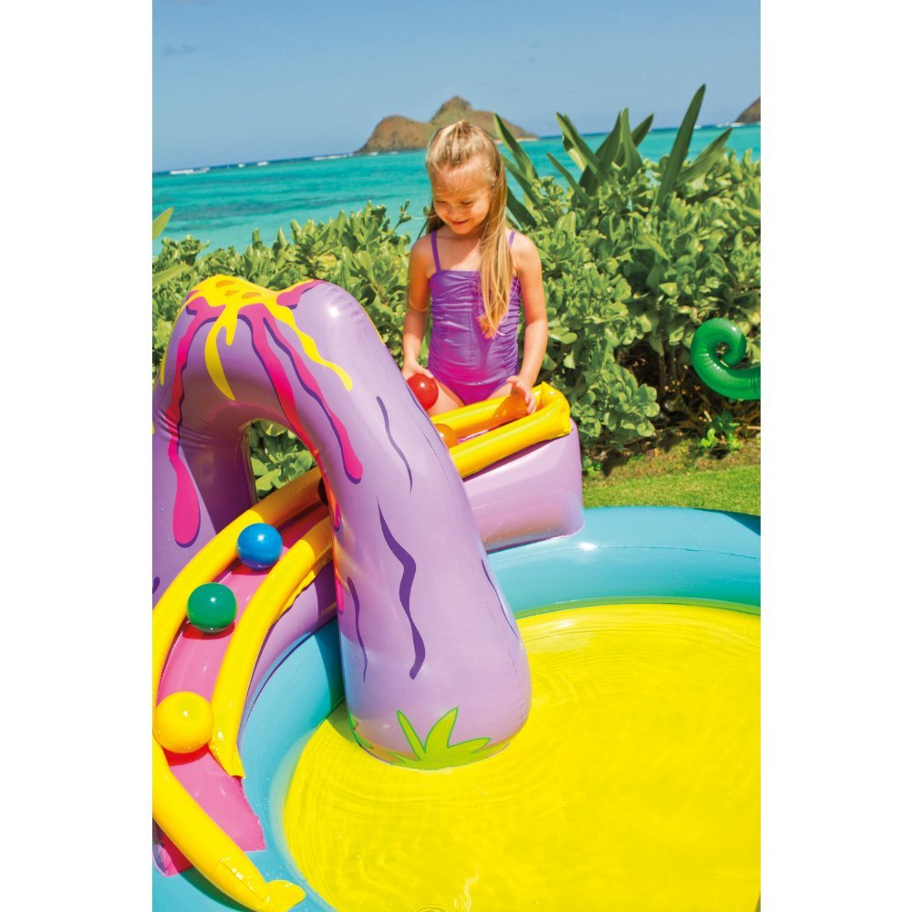 "Intex Dinoland Inflatable Play Center, 31"" X 90\"" X 44\"", for Ages 2+"