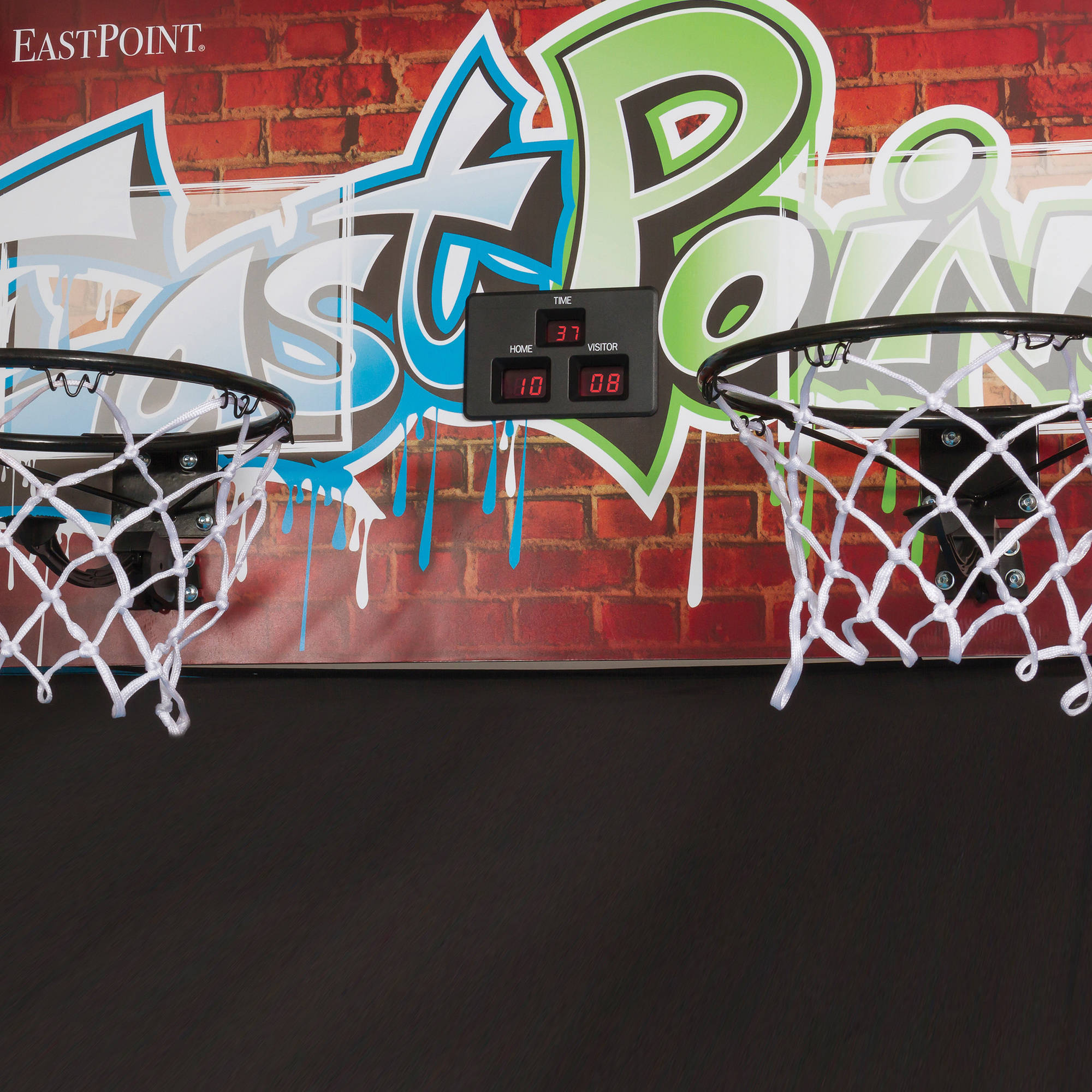 EastPoint Sports Double Shot Basketball Game with LED Scoring and Stadium Sounds (RENT)