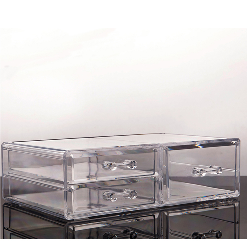 Acrylic storage containers for makeup with separator