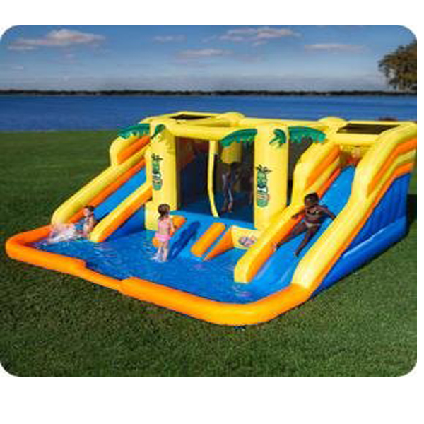 Rainforest Rapids Inflatable Bouncer & Waterpark with Slides (Bouncy Castle) (RENT)