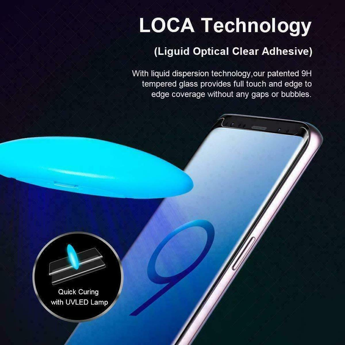 Galaxy S10 Plus, Screen Protector, Tempered Glass with UV Light for Samsung Galaxy S10 Plus - Support with ULTRASONIC Fingerprint