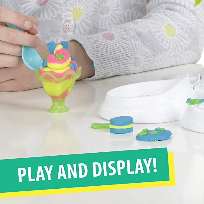 Play-Doh Perfect Twist Ice Cream Toy with 5 Non-Toxic Colors Including 3 Play-Doh Plus Cans