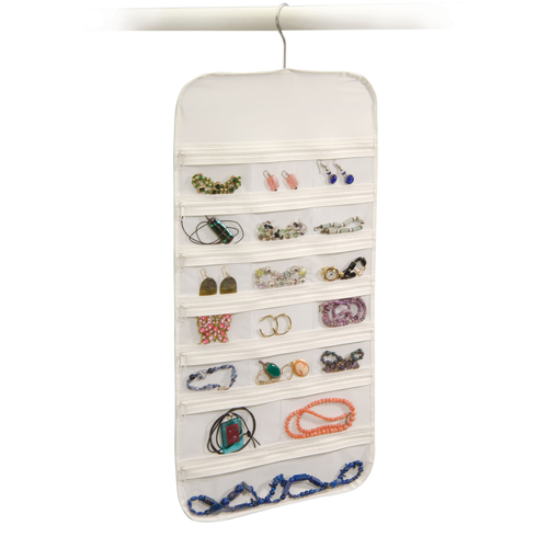 Hanging Jewelry Organizer (37 Storage Pockets)