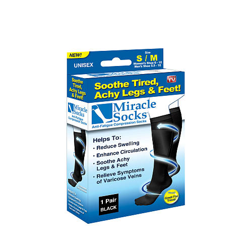 As Seen On TV Miracle Socks (Black) (Large/ X-Large)