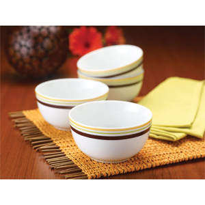Rachael Ray Dinnerware Little Hoot Cereal Bowl Set, 4-Piece