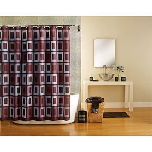 Hometrends Grid Lock Fabric Shower Curtain