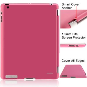 i-BLASON Back Cover Case for 2012 New iPad 3rd Gen Ultra-Slim 1.2mm Smart Cover Compatible (Latest Third Generation iPad 3 HD back cover only) (Pink)