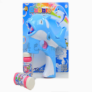 Dolphin Bubble Gun - (BLUE)