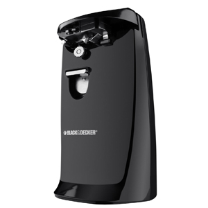 Black & Decker EC475B-2 Extra-Tall Electric Can Opener, (Black or White)