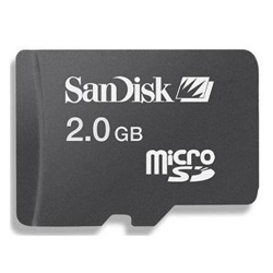 SanDisk 2GB Micro SD Card (Blister Pack)