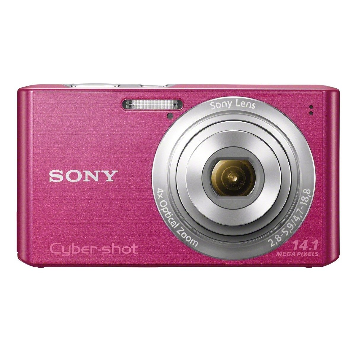 Sony Cyber-shot DSC-W610 14.1 MP Digital Camera with 4x Optical Zoom and 2.7-Inch LCD (Pink)