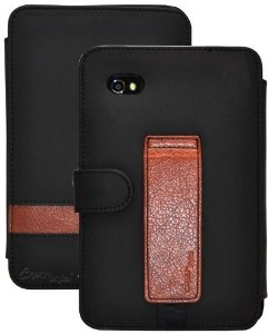 CrazyOnDigital Designer 2-Tone Stand Leather Case For Samsung Galaxy Tab 2 7.0 (Black)