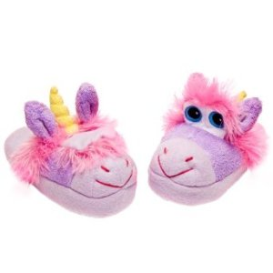 Stompeez Unusual Unicorn Slippers - (Small 9 to 11 Kids)