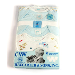 CWW 5 Blue Patterned Short Sleeve Bodysuits