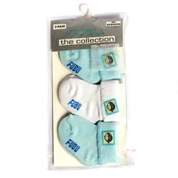 Fubu The Collection 3-Pairs Blue & White Socks