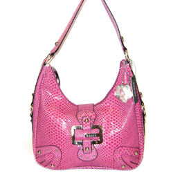 GUESS G Logo Saddle Hobo in Mauve (Pink)
