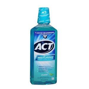 ACT Restoring Anticavity Fluoride Spearmint Rinse