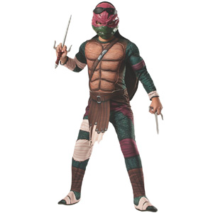 Rubies Teenage Mutant Ninja Turtles Deluxe Muscle-Chest Raphael Costume, Child Large