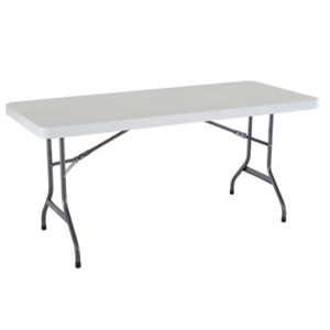 HEAVY DUTY 6 FOOT FOLDING TABLE HDPE OFF WHITE (6 Ft)