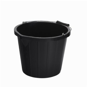 Heavy Duty Construction Plastic Bucket (Black)