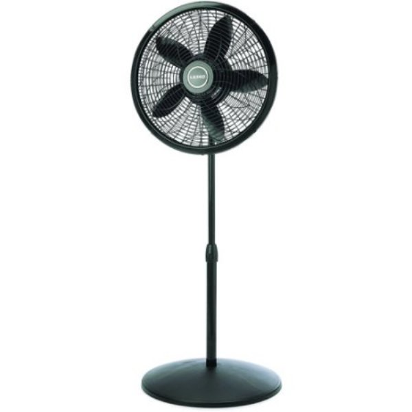 LASKO 18 INCH  ELEGANCE & PERFORMANCE PEDESTAL FAN (BLACK)