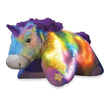 Pillow Pets Glow Pets Rainbow Unicorn 16""