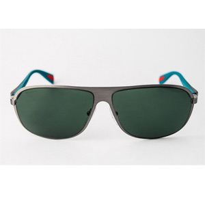 PRADA SPS560 Aviator/Carbon Fibre Steel/Blue Sunglasses