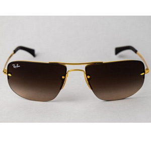 RayBan RB3497 Aviator Gold/Brown Sunglasses