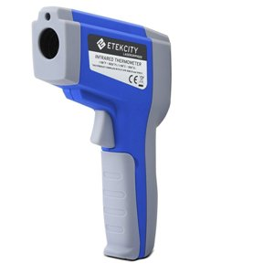 Etekcity Lasergrip 1022 Non-contact Digital Laser Infrared Thermometer -58℉~1022℉ (-50℃ ~ 550℃) with Adjustable Emissivity, Temperature Unit & MAX Display Function, Blue
