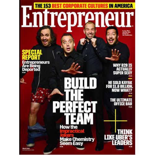 Entrepreneur Magazine: March 2017