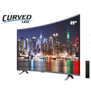 "Sankey 49"" Curved LED Smart TV (Rent to Own)"