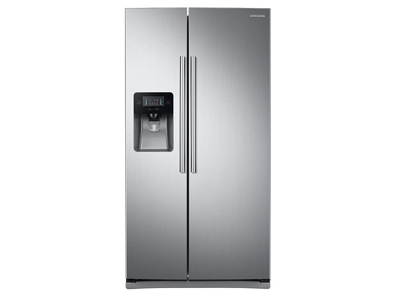 SAMSUNG 25 cu. ft. Side-By-Side Refrigerator with LED Lighting (Rent-to-Own)
