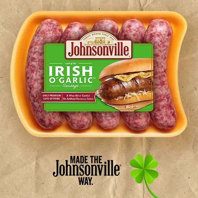 JOHNSONVILLE IRISH O\'GARLIC SAUSAGE 538G