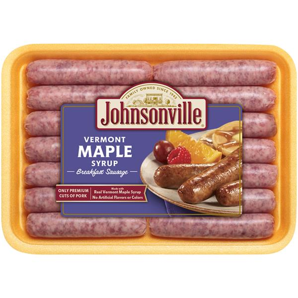 JOHNSONVILLE VERMONT MAPLE SYRUP BREAKFAST SAUSAGE 340G