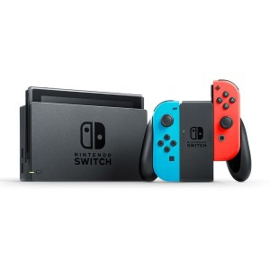 Nintendo Switch with Neon Blue and Neon Red Joy-Con (Rent to Own)