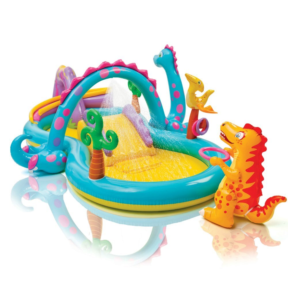 "Intex Dinoland Inflatable Play Center, 31"" X 90\"" X 44\"", for Ages 2+ (Rent)"