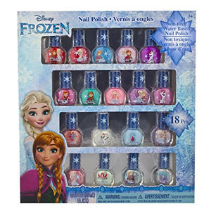 Frozen Non-Toxic 18 Piece Peel Off Nail Polish Set