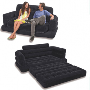 "Intex Pull-out Sofa Inflatable Bed, 76"" X 87\"" X 26\"", Queen"