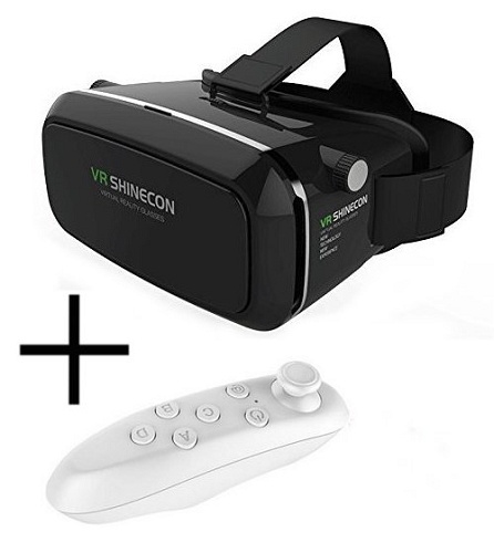 VR Shinecon Virtual Reality Glasses W/ Bluetooth Controller