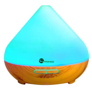 Diffusers for Essential Oils, TaoTronics 300ml Ultrasonic Humidifiers with Wood Grain, Cool Mist Aroma Diffuser with 7 Colors, Low Water Auto Shut-off, Up to 6 Hours Timer