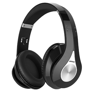 Mpow 059 Bluetooth Headphones Over Ear, Hi-Fi Stereo Wireless Headset, Foldable, Soft Memory-Protein Earmuffs, w/Built-in Mic and Wired Mode for PC/Cell Phones/TV (BLACK)