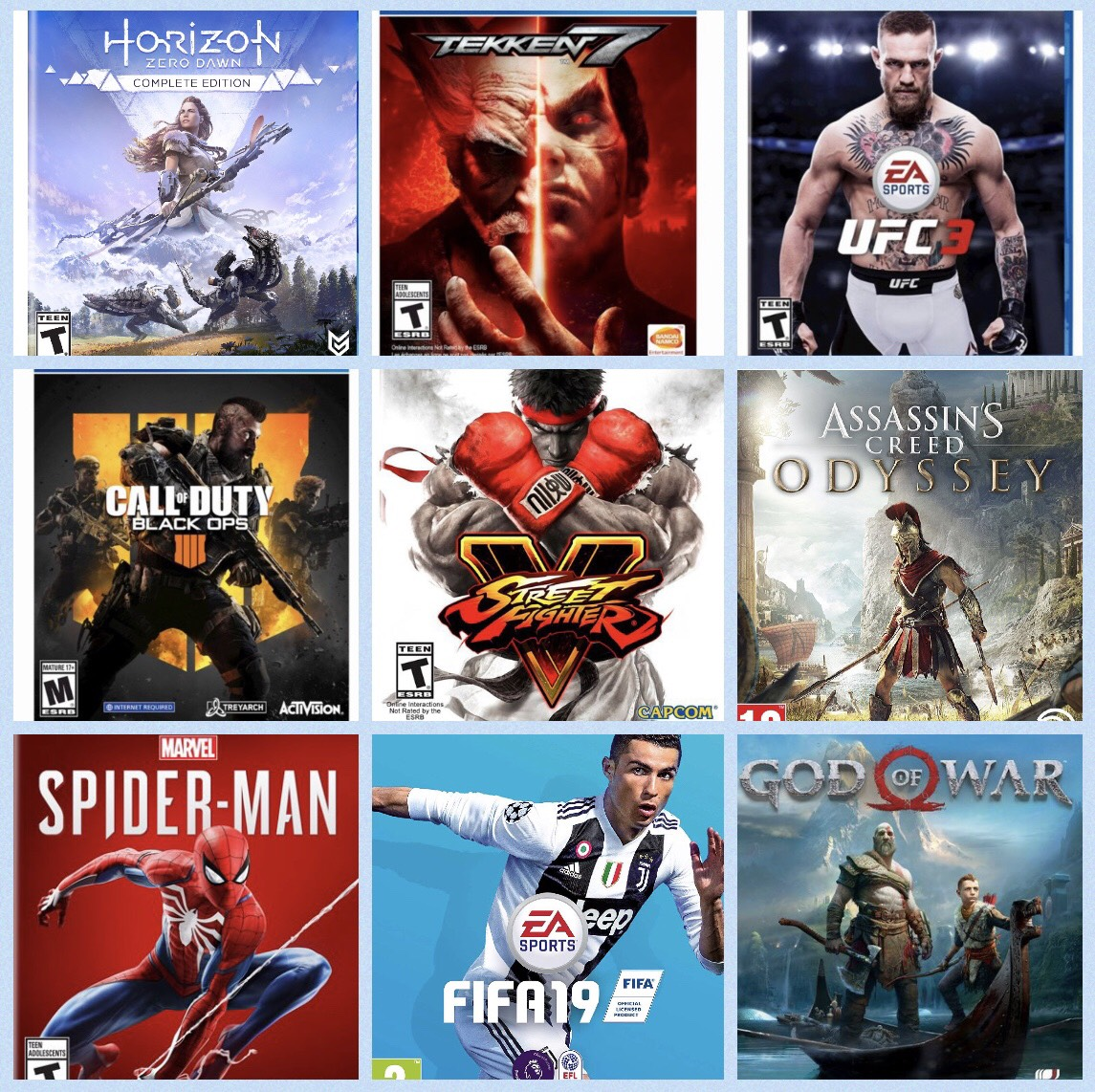 Rent any 3 Playstation 4 Games for 1 Month (Over 40 games to choose from) RENTAL