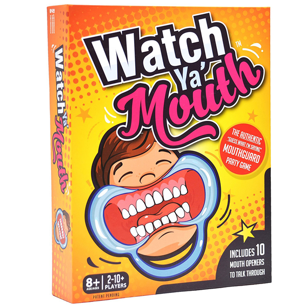 Watch Ya Mouth Family Edition - The Authentic, Hilarious, Mouthguard Party Card Game (Rent)