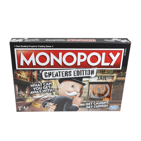 Hasbro Gaming Monopoly Cheaters Edition Family Game  (RENT)