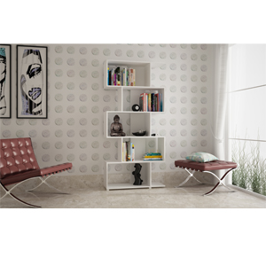 White Zig Zag 5 Tier Shelf