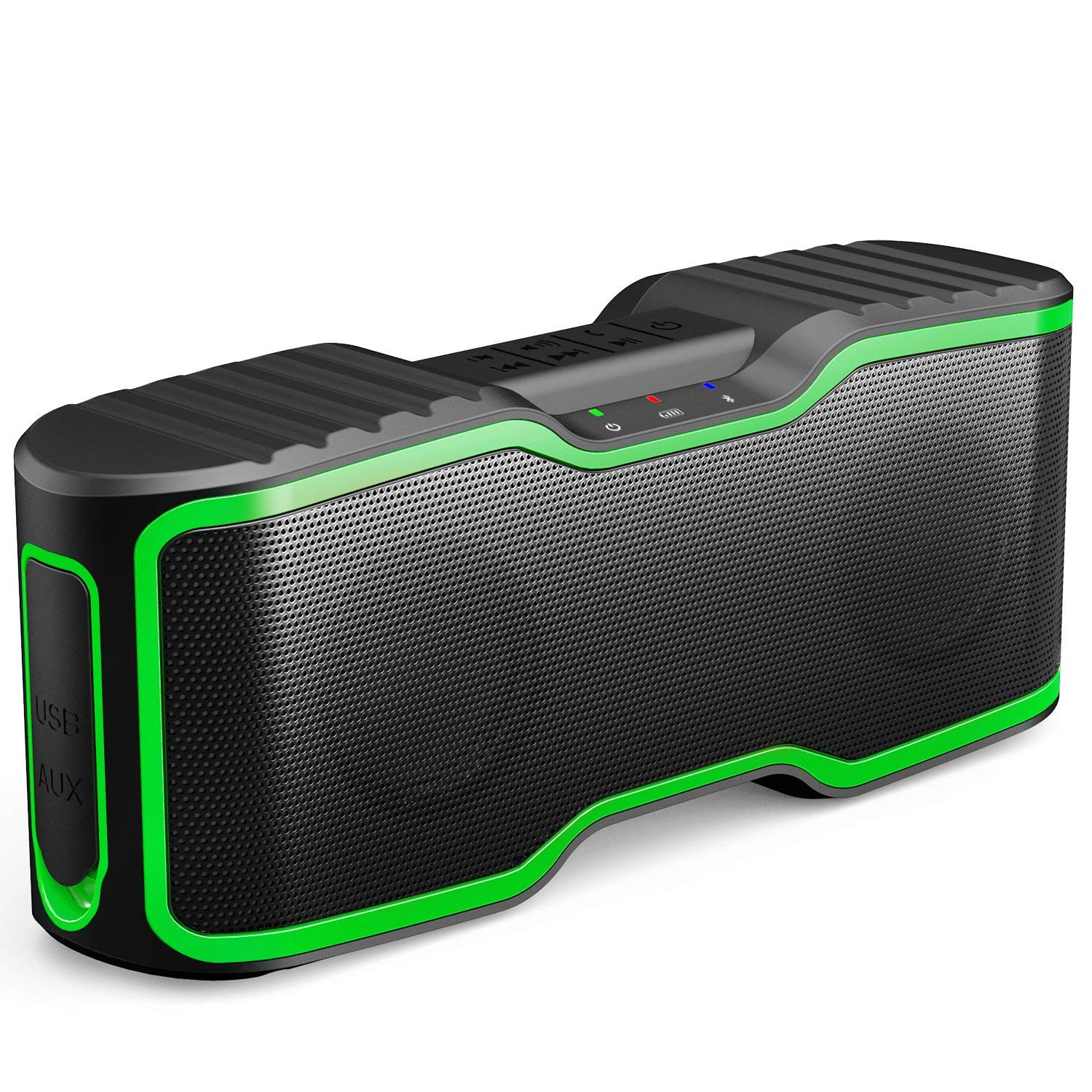 AOMAIS Sport II Portable Wireless Bluetooth Speakers 4.0 with Waterproof IPX7, 20W Bass Sound, Stereo Pairing, Durable Design for Backyard, Outdoors, Travel, Pool, Home Party